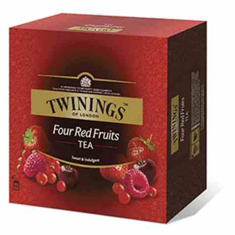 Bilde av Twinings 4 røde frukter 100 poser.