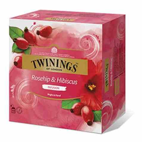 Bilde av Twinings nype og hibiskus 100 poser.