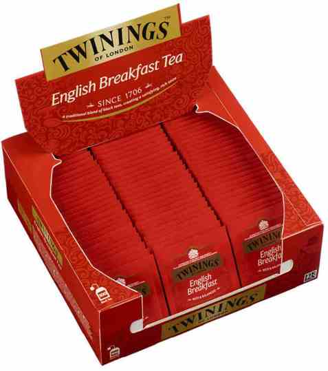 Bilde av Twinings English Breakfast tea 100 poser.
