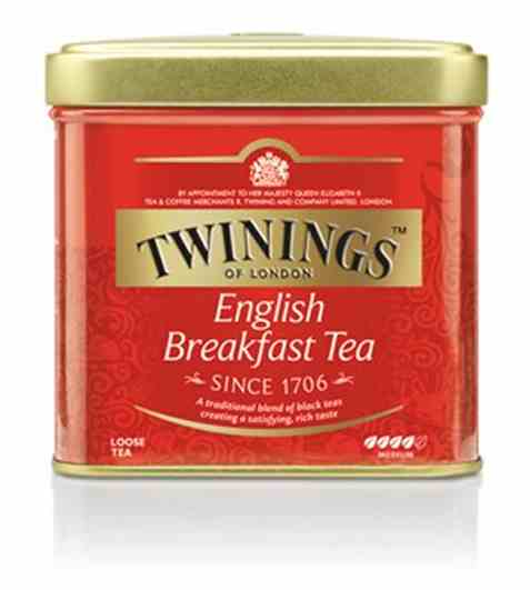 Bilde av Twinings English Breakfast tea 200 gr metallboks.