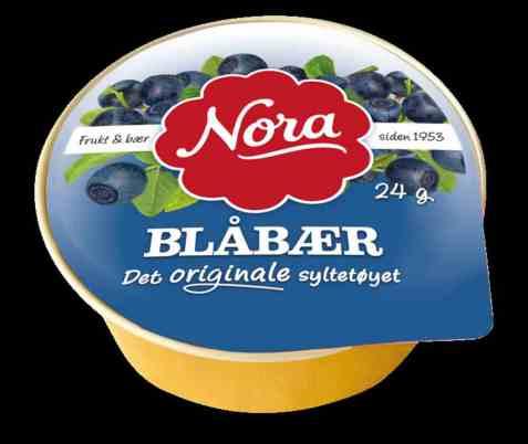 Bilde av Nora kuvertbeger blåbærsyltetøy.