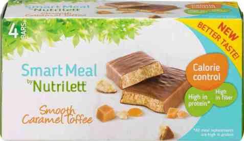 Bilde av Nutrilett bar smooth caramel toffee 4 pakke.