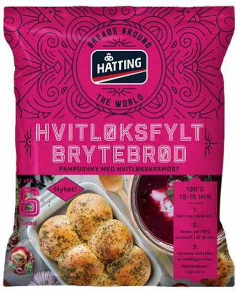 Bilde av Hatting hvitløksfylt brytebrød.
