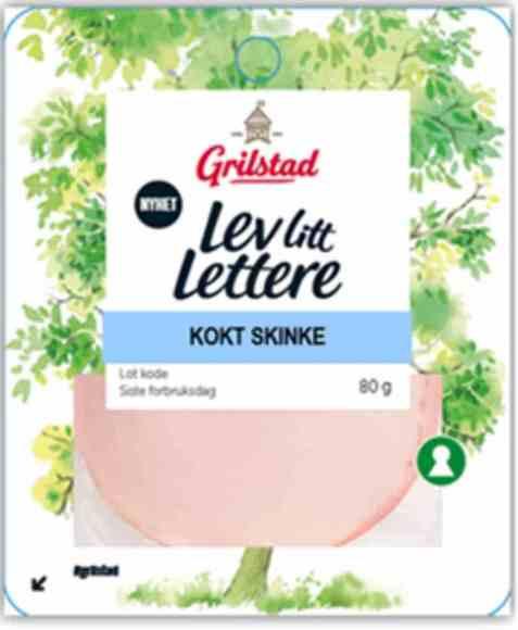 Bilde av Grilstad lev litt lettere kokt skinke.