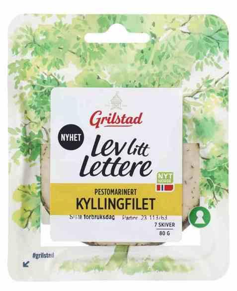 Bilde av Grilstad lev litt pestomarinert kyllingfilet.