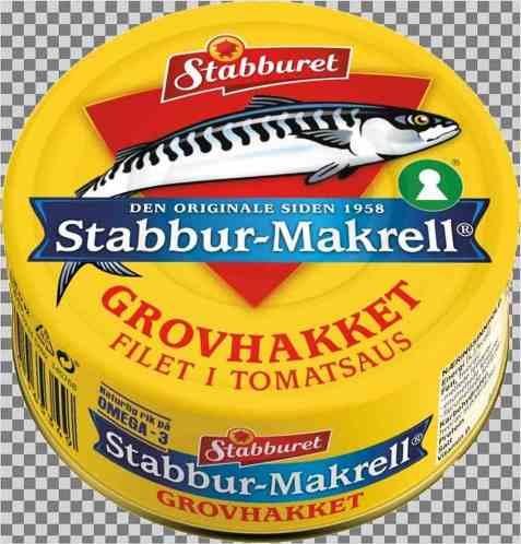 Bilde av Stabbur makrell Grovhakket filet i tomat 90gr.