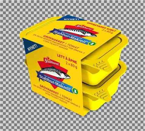Bilde av Stabbur makrell Grovhakket filet i tomat 2 x 80gr.