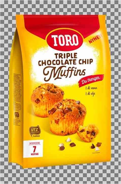 Bilde av Toro Triple Chocolate Chip Muffins.