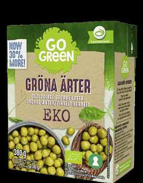 Bilde av Gogreen økologiske grønne erter.