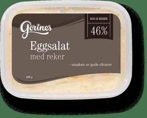 Bilde av Gorines egg og rekesalat hjemmelaget 200gr.