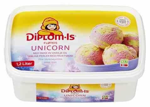 Bilde av Diplom-Is Unicorn.