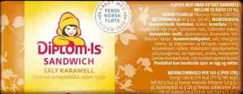Bilde av Diplom-is Sandwich karamell.
