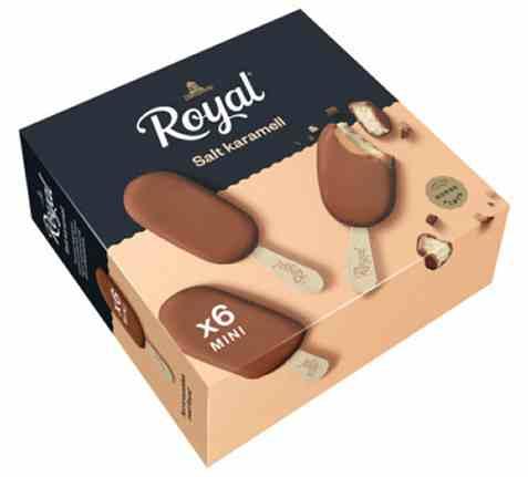 Bilde av Diplom-is Royal mini Salt Karamell 6stk.