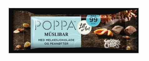 Bilde av Sørlandschips poppa muslibar melkesjokolade 25gr.
