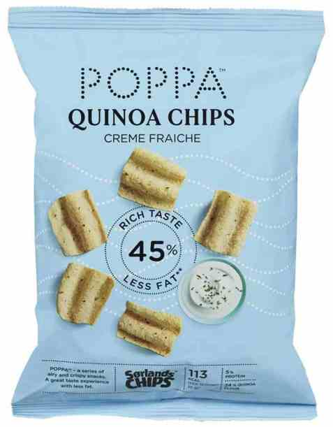 Bilde av Sørlandschips poppa quinoa creme fraiche 60gr.
