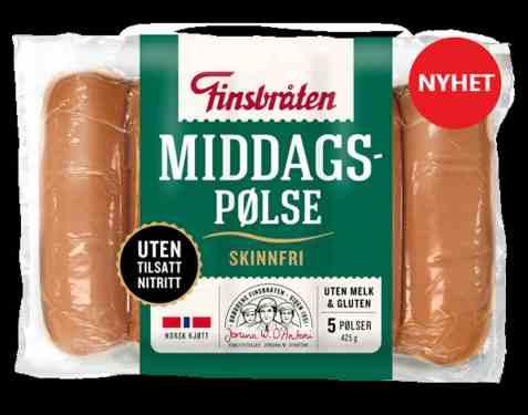 Bilde av Finsbråten middagspølse skinnfri.