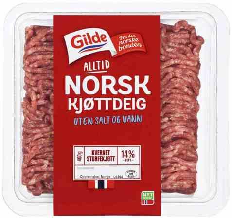 Bilde av Gilde Kjøttdeig uten vann og salt.