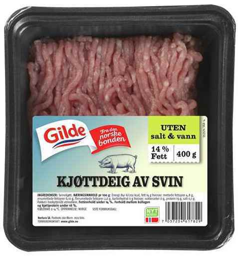 Bilde av Gilde Kjøttdeig av svin uten salt og vann.