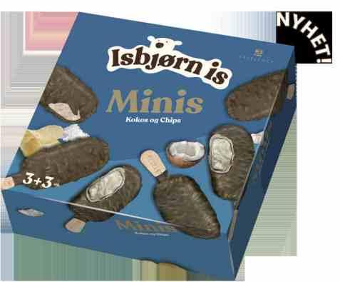 Bilde av Isbjørn Is Ekselence Mini kokos og chips.