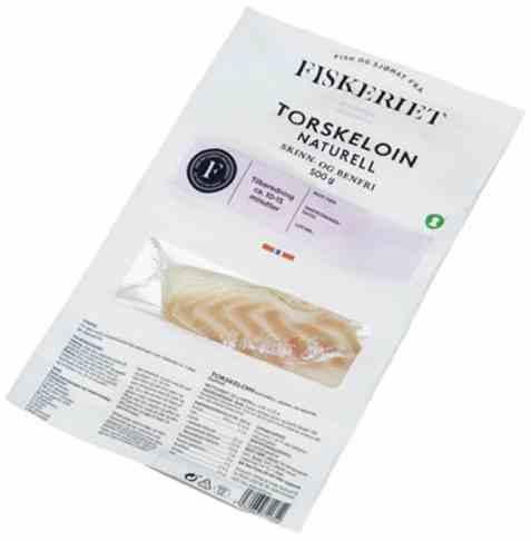 Bilde av Fiskeriet Torskeloin uten skinn 500gr.