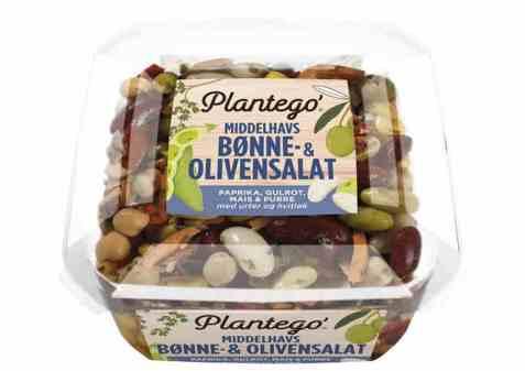 Bilde av Mills plantego middelhavsalat bønne og oliven.