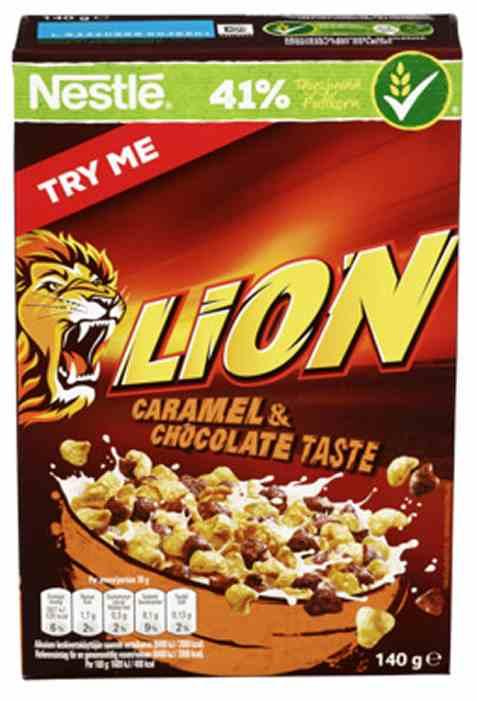 Bilde av Nestle Lion frokost karamell og sjokolade 140gr.