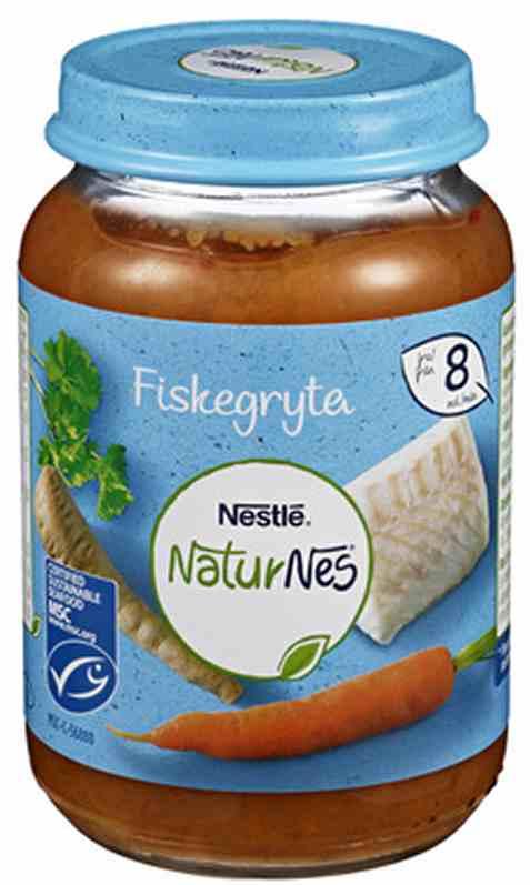 Bilde av Nestlé naturnes økologisk Fiskegryte 8m 190g.