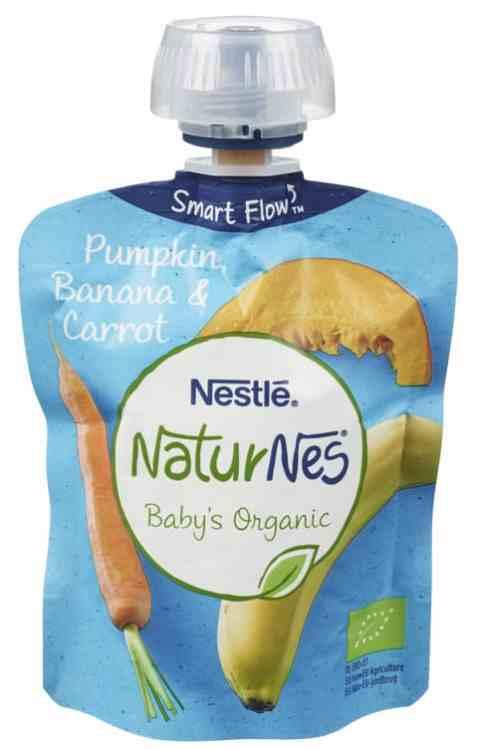 Bilde av Nestlé naturnes økologisk smoothie pumpkin og carrot.