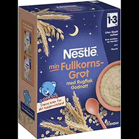 Bilde av Nestlé min Fullkornsgrøt med Rugflak Godnatt.