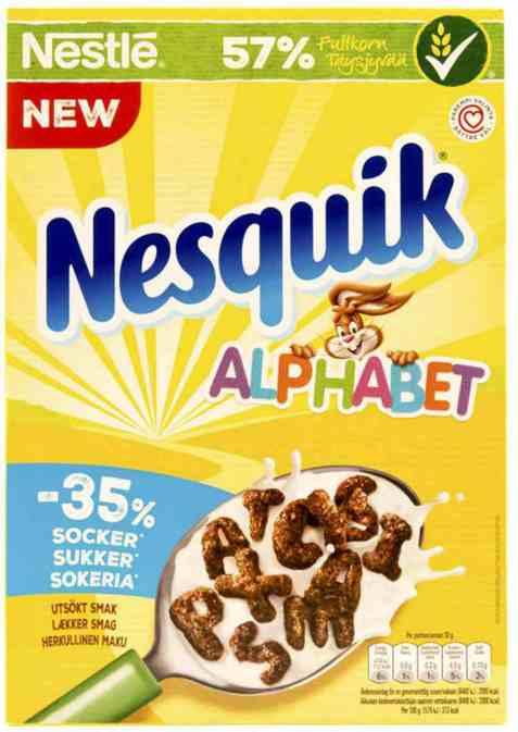 Bilde av Nestle Nesquick Alphabet Frokostkorn 325gr.