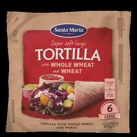 Bilde av Santa Maria tortilla whole wheat large.
