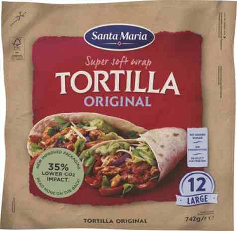 Bilde av Santa Maria tortilla original large 742 gr.