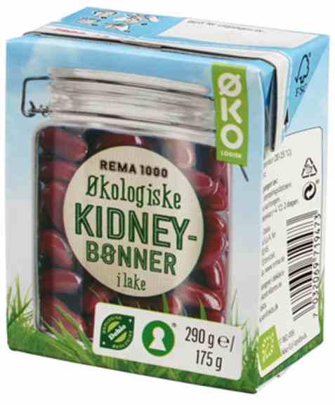 Bilde av Rema 1000 økologiske Kidneybønner 290g.