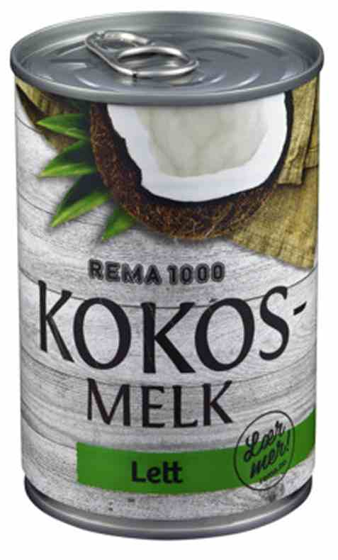 Bilde av Rema 1000 Kokosmelk Lett 400ml.