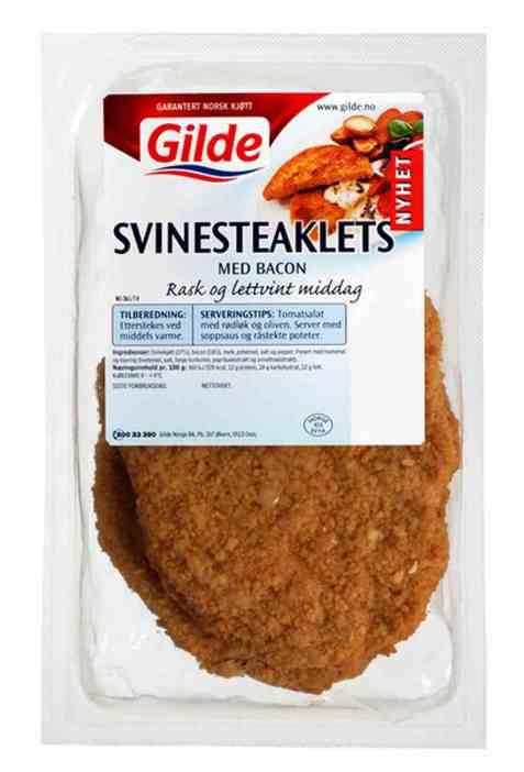 Bilde av Gilde Svinesteaklets med bacon.