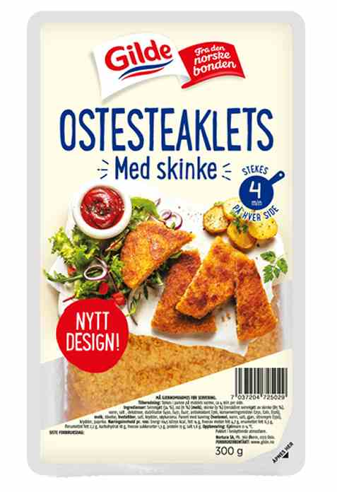 Bilde av Gilde Ostesteaklets med røkt skinke.