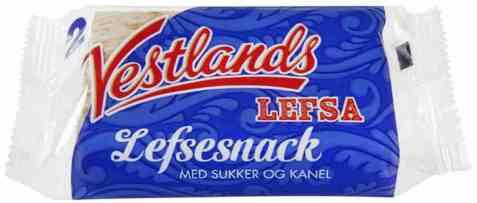 Bilde av Vestlandslefsa Lefsesnack.