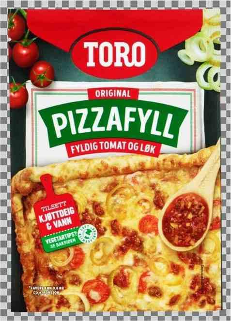 Bilde av Toro pizzafyll med tomat og løk.