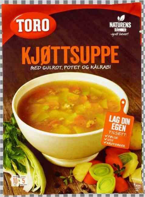 Bilde av Toro kjøttsuppe med grønnsaker.