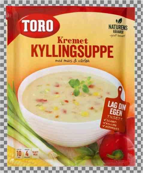 Bilde av Toro kremet kyllingsuppe med mais og vårløk.