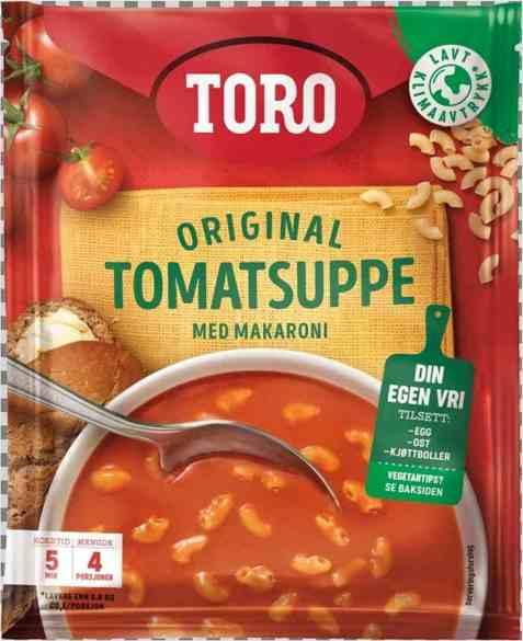 Bilde av Toro tomatsuppe med makaroni.