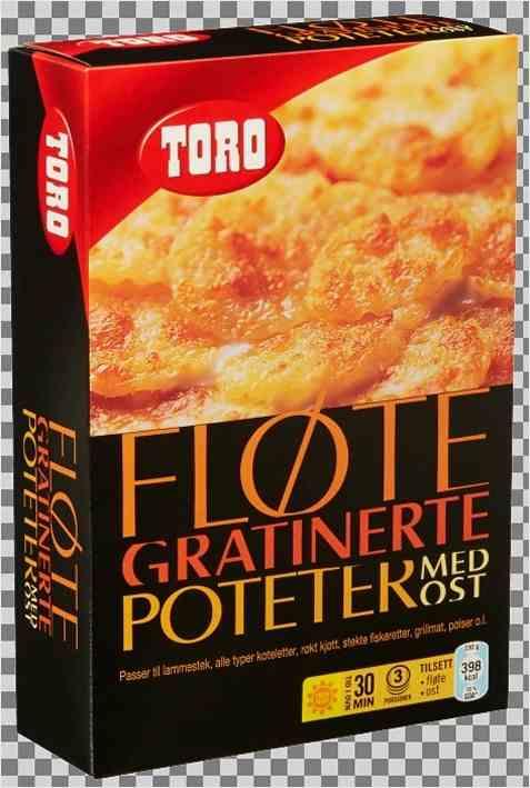 Bilde av Toro fløtegratinerte poteter med ost.