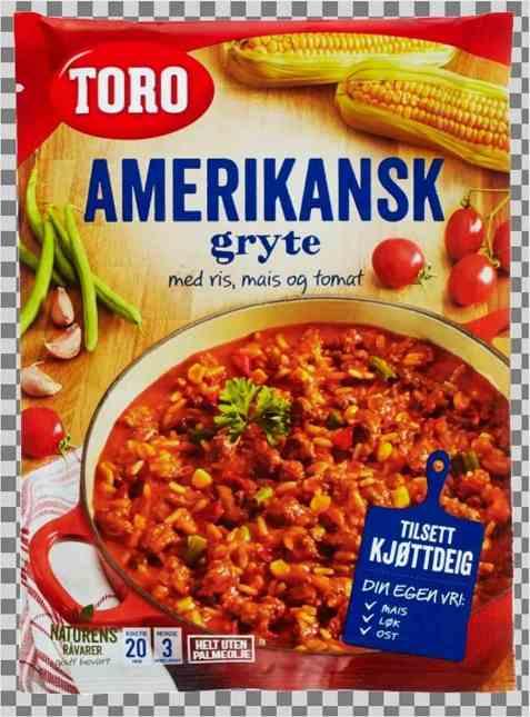Bilde av Toro amerikansk gryte med ris tilberedt.