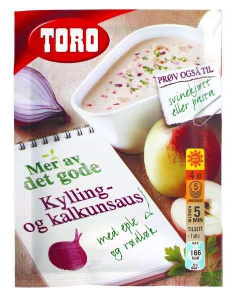 Bilde av Toro kylling og kalkunsaus med eple og rødløk.
