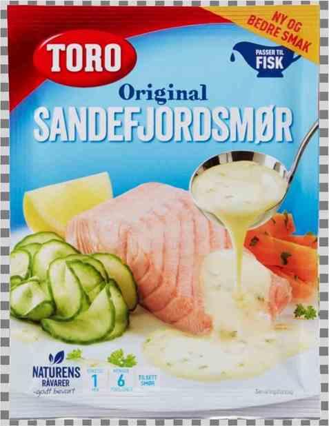 Bilde av Toro sandefjordsmør kremet smørsaus til fisk.