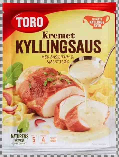 Bilde av Toro kremet kyllingsaus med basilikum og sjalottløk.