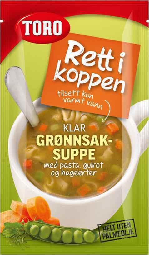 Bilde av Toro Rett i Koppen grønnsaksuppe med pasta.