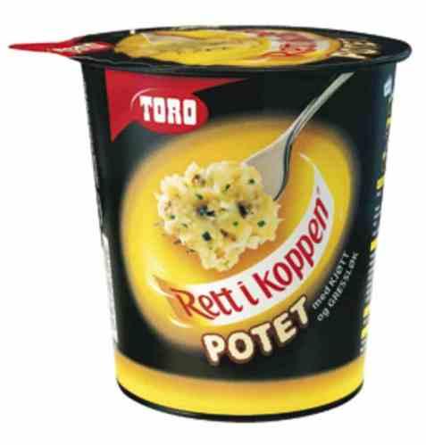 Bilde av Toro Rett i Koppen Potet med kjøtt og gressløk.