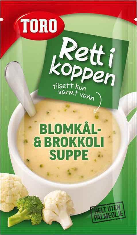 Bilde av Toro Rett i Koppen Blomkål og Brokkolisuppe.