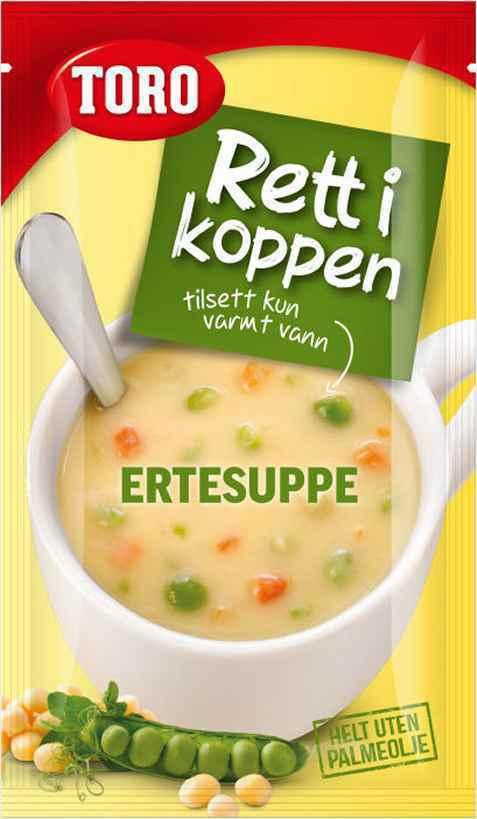 Bilde av Toro Rett i Koppen Ertesuppe med kjøtt og krutonger.